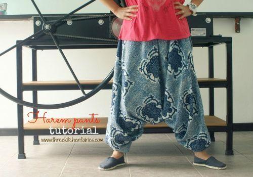 Three Kitchen Fairies: Harem pants tutorial