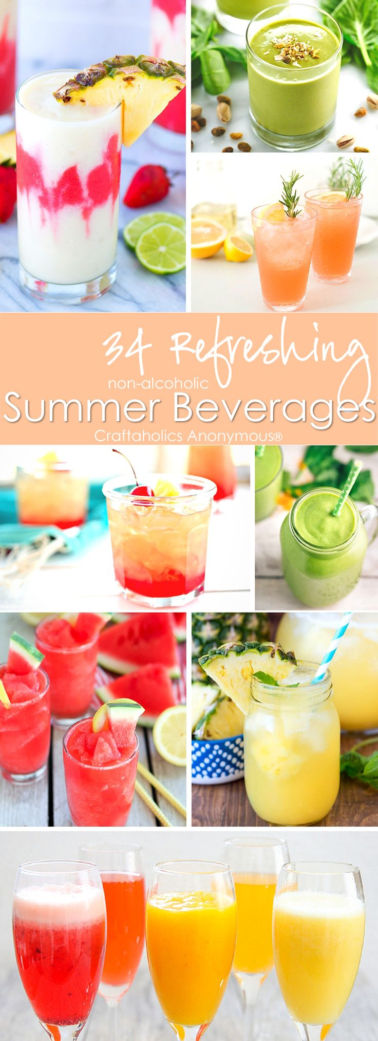 34 Refreshing Summer Drink Beverages. Loads of yummy recipes and ideas!