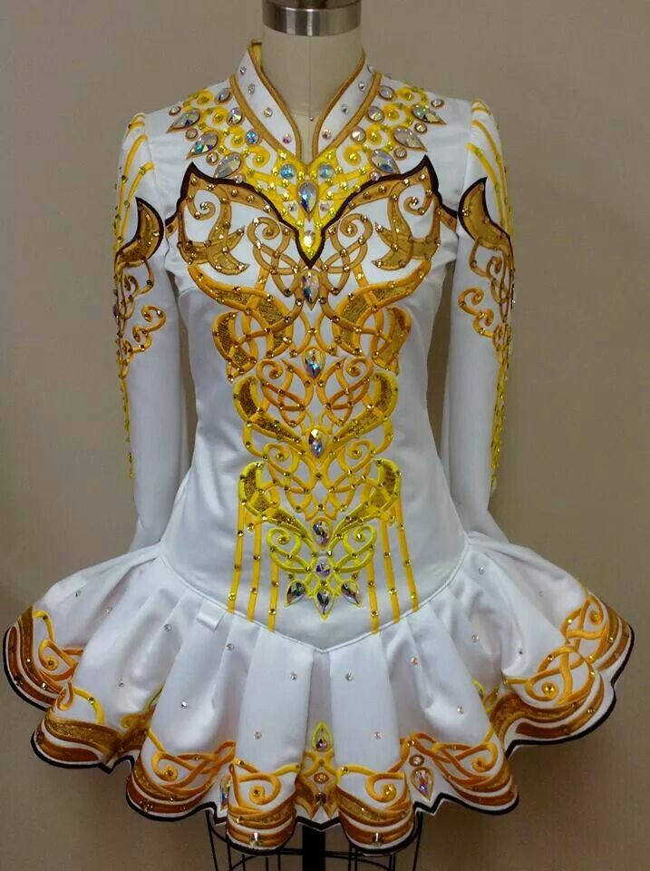 Beautiful design! Wonder how K would look in these colors....or change the colors!  Prime Design Irish Dance Solo Dress Costume