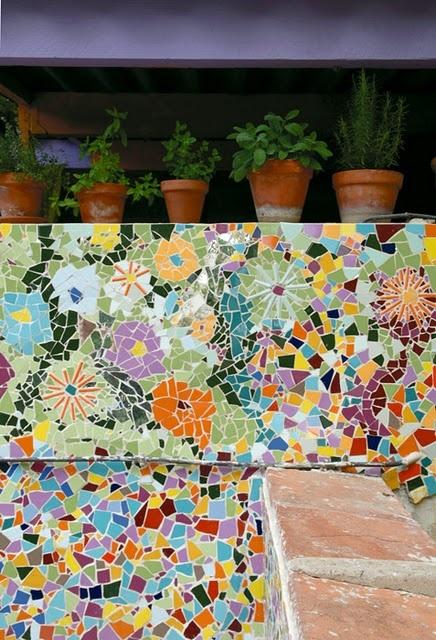 mosaic patio walls