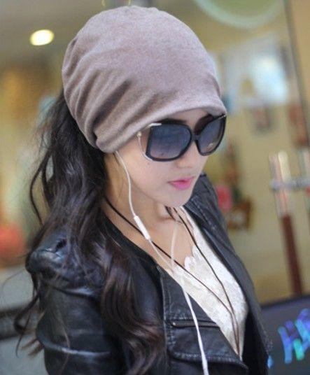 Fashion Casual Design Plain Womens Beanie Hat Cool Snap Backs 4 Colours Neck Sca