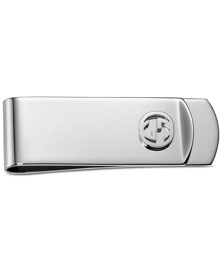 Gucci Men's Sterling Silver Interlocking G Money Clip YBF34308600100U
