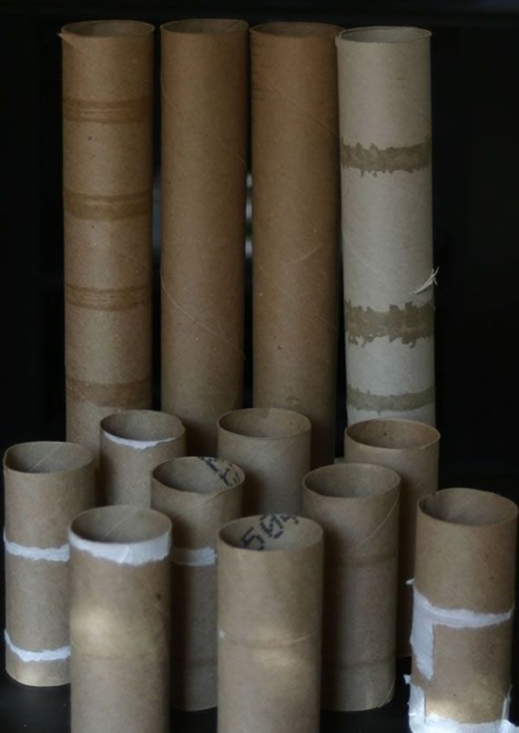 Reciclagem com rolos de papel