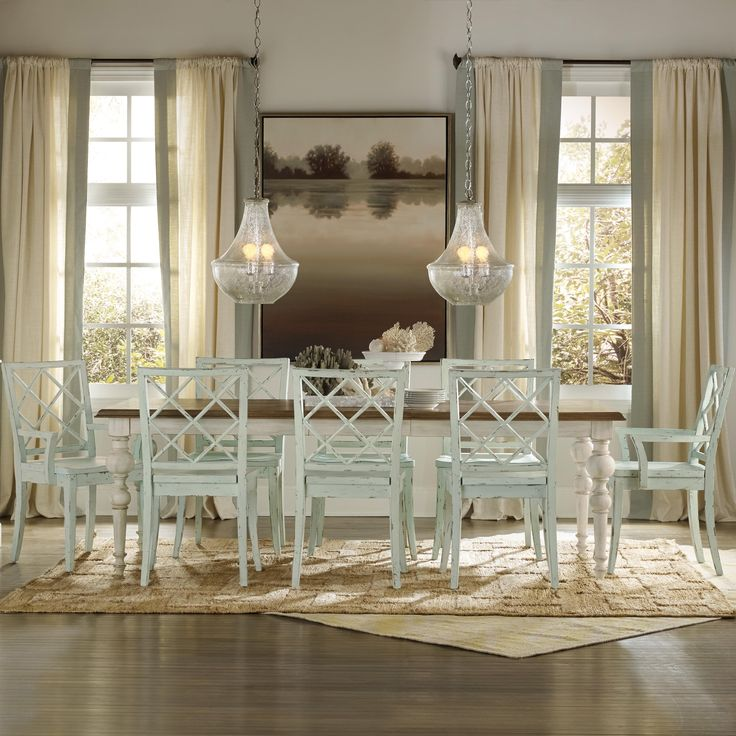 Shop For The Hooker Furniture Sunset Point 9 Piece Table Chair Set At Stoney Creek