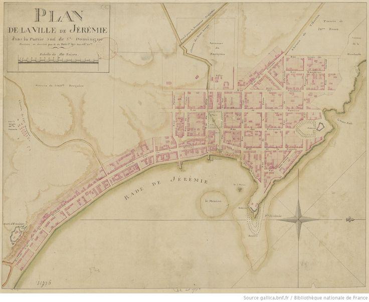 Plan de la ville de Jérémie dans la partie sud de Saint-Domingue ...