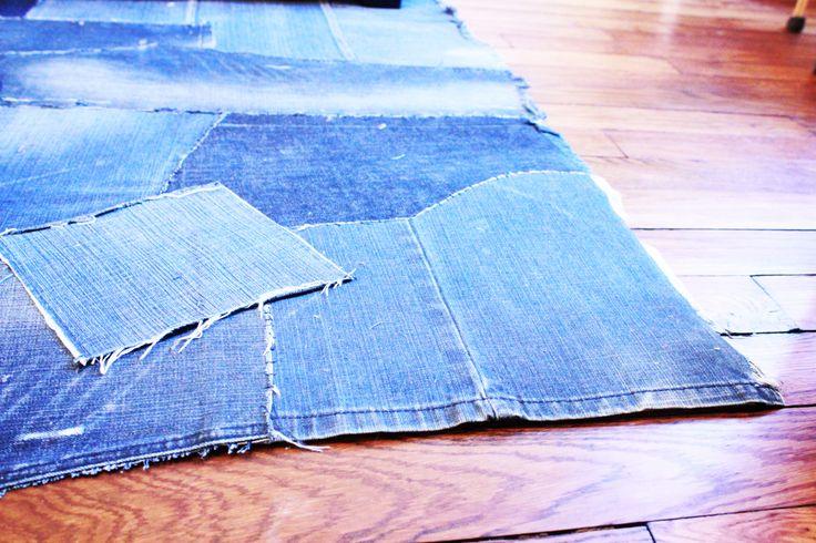 tapis jean recyclé