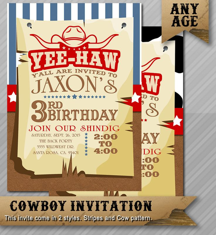 The 25 best Western invitations ideas – Wild West Birthday Invitations