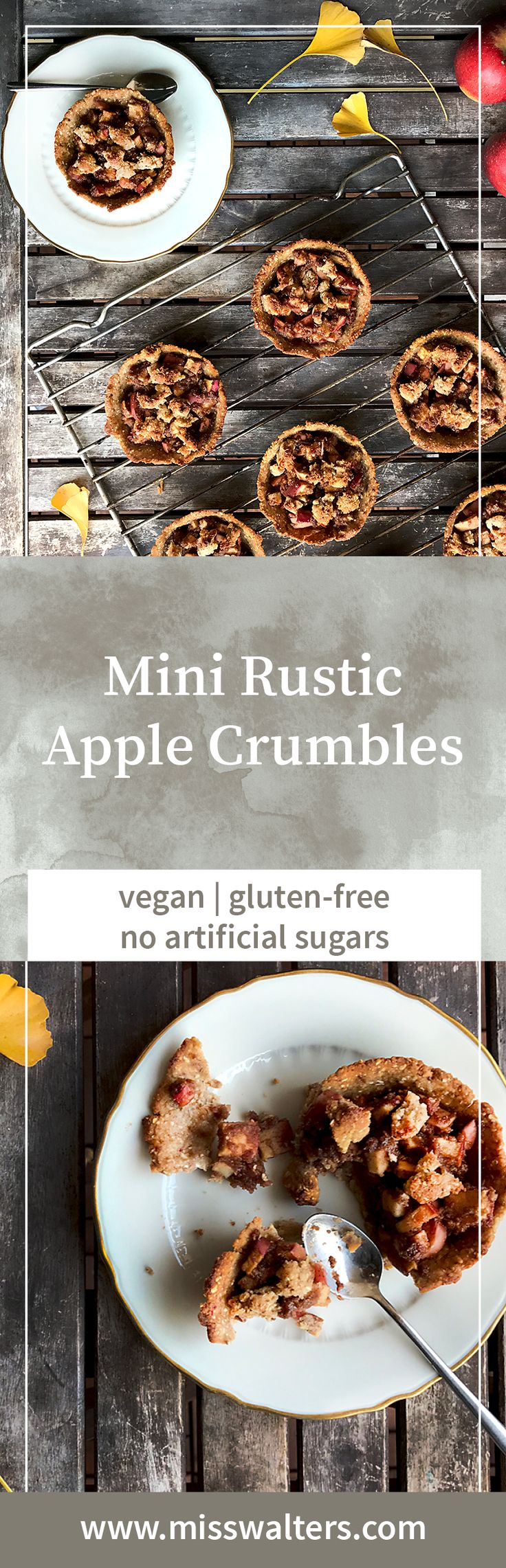 An apple a day keeps the doc away. Especially true for these Mini Rustic Apple Crumbles.
