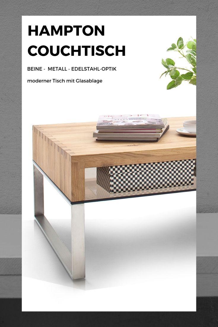 Hampton Couchtisch In Eiche Moderner Tisch Mit Glasablage Wohnzimmer Wohnzimmermobel Couchtische Couchtisch Braun Couchtisch Eiche
