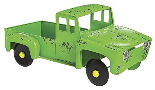 Cape Craftsmen 8PMTL025 Evergreen Rustic green Metal Truck Planter ** You can get more details by clicking on the image.