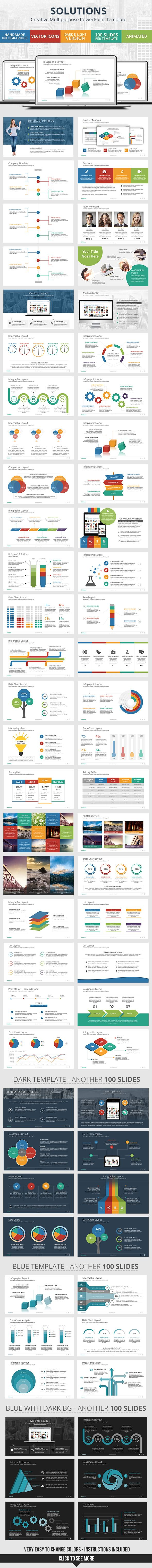 PowerPoint Presentation Template #powerpoint #powerpointtemplate Download: http://graphicriver.net/item/solutions-powerpoint-presentation-template/10284842?ref=ksioks