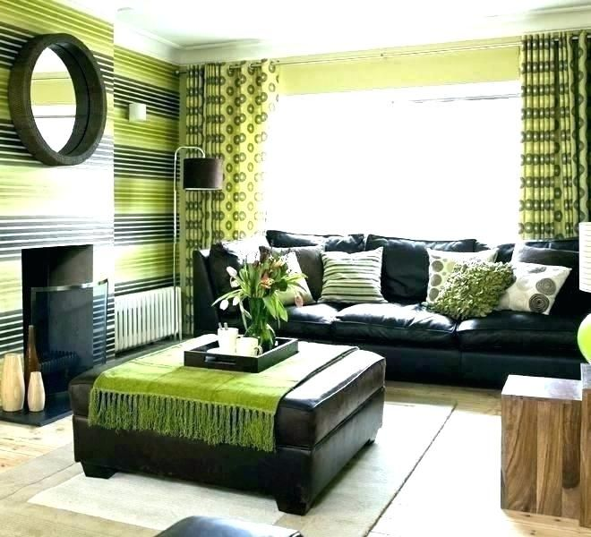 Awesome 20 Lime Green Home Accessories Home Decorations Ideas Living Room Green Brown And Green Living Room Brown Home Decor