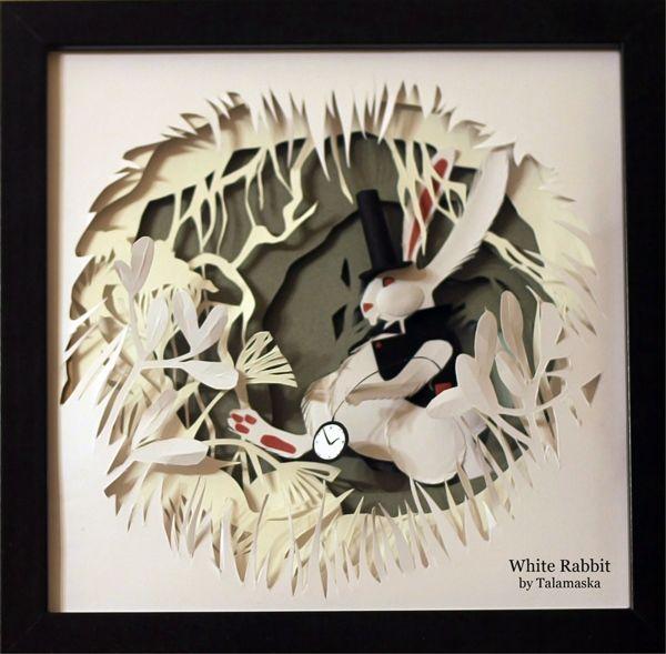 Paper adventures with Alice in Wonderland by Adamova Marina - ego-alterego.com