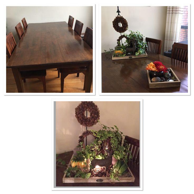 Hersftdecoratie op de eetkamertafel / falldecoration on the dinnertable