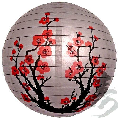 PL101: 14'' Chinese Japanese Paper Lantern Brand new Plum Tree Cherry Blossom #Unbranded