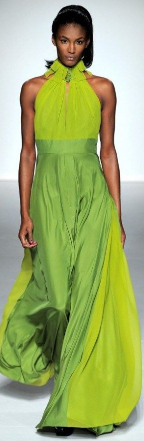 Lime Ombre Dress.