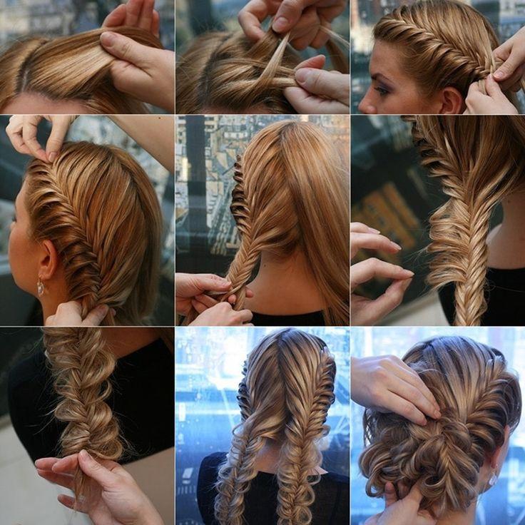 Try This Fabulous Herringbone Braid Updo  - http://www.stylishboard.com/try-fabulous-herringbone-braid-updo/