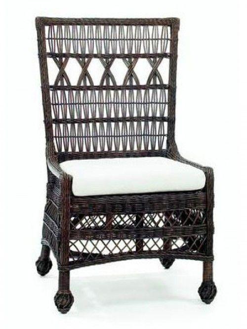 Nantucket Wicker Dining Chair, Espresso                                                                                                                                                                                 More