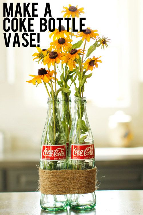 DIY 3 empty green glass coke bottles Father's day Graduation Fiesta wedding craft supply:  Coca Cola tall bottle photo prop craft supply