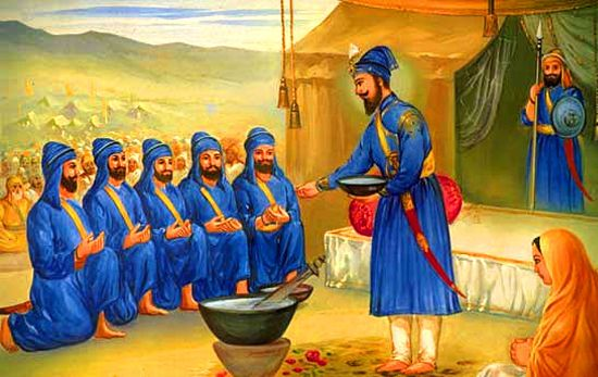 The Khalsa is the collective body of all initiated Sikhs represented by the five beloved-ones.