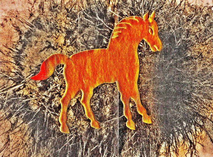 Pedro Meier – »A golden horse in the painting – No. II« – Mix Media artwork – 2017  https://www.instagram.com/pedro.meier/  http://www.pedro-meier-artist.ch/  Pedro Meier – Swiss-German Multimedia Artist