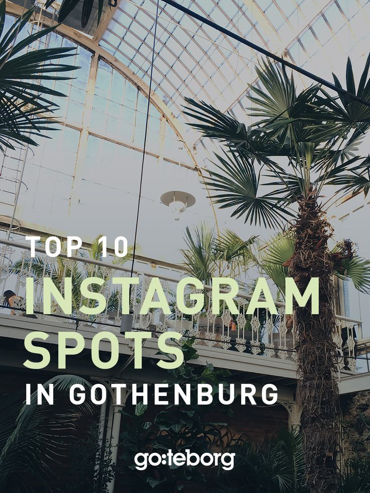 Guide to the top ten favourite Instagram spots in Gothenburg, Sweden. | goteborg.com