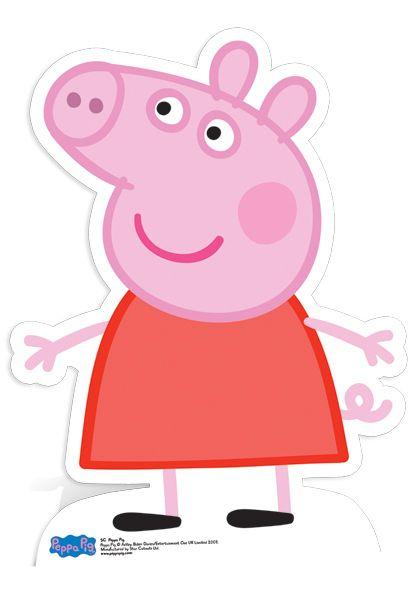 Peppa Pig 80cm Lifesize Cardboard Cutout | Partyrama.co.uk