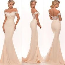 2017 novo da dama de honra vestidos sexy sereia fora do ombro lace apliques zipper voltar trem da varredura longo maid of honor dresses(China (Mainland))