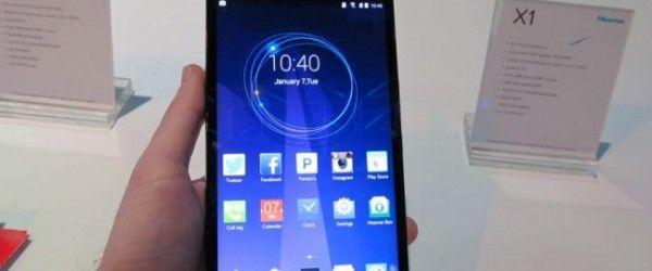 Lansare 6.8-inch Hisense X1 smartphone la CES