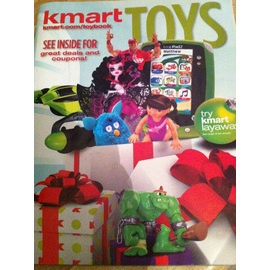 KMART TOY BOOK 2012     The Kmart Toy Book 2012 features 48 pages. Check out the hottest toys, coupons, and more. Kmart offers savings with coupons and also offers free layaway with no service fee on purchases made through November 17, 2012. Plus get Cashback with your online purchases. Can't wait until the Kmart Black Friday 2012 ad comes out.