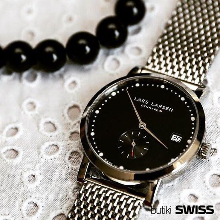 Elegancja w stylu Lars Larsen. #larslarsen #larslarsenwatches #silver #black #fashion #elegante #womenstyle #accessories #mode #style #classic #simple #instawatch #watchaddict…