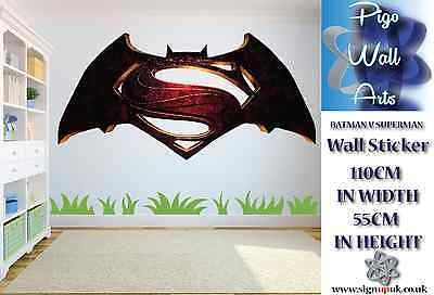 #Batman v #superman children's bedroom wall #sticker bedroom #sticker large.,  View more on the LINK: http://www.zeppy.io/product/gb/2/262014328388/