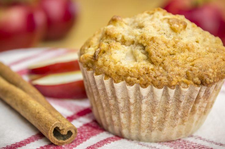 Muffins aux pommes, érable et gruau