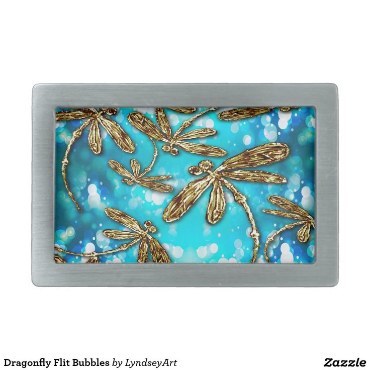Dragonfly Flit Bubbles Belt Buckle - gorgeous golden dragonflies on a bubbly background. #dragonfly #belt #style #shopping