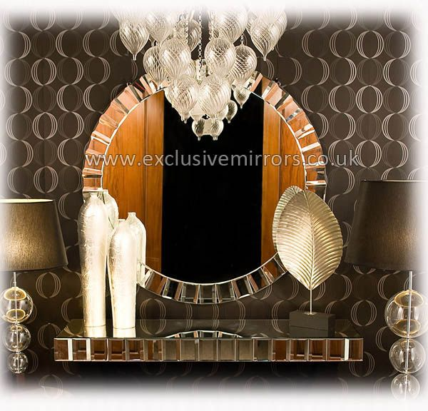 Extra large round wall mirror 119cm ee189 for Extra large round mirror