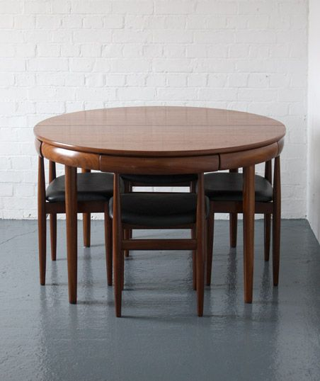 Hans Olsen; Teak and Afromosia Dining Set for Frem Rojle, 1962.