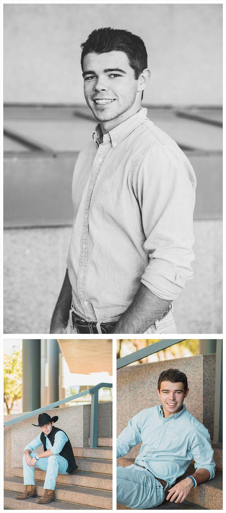 Senior portrait ideas, senior portrait photography, senior images, senior session, boy pose, male senior, guy senior, senior poses, creative, unique, cute guy senior pictures, urban cowboy, black cowboy hat, cowboy senior pictures, downtown