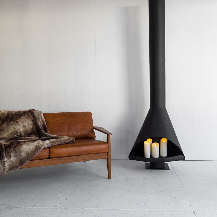 west elm - How To Build A Flameless Mid-Century Style Fireplace from Paper