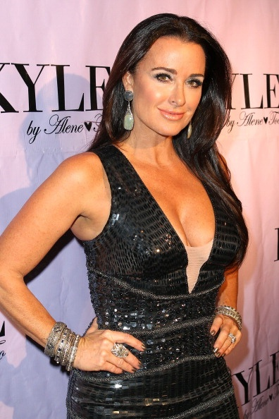 Kyle Richards from The Real Housewives of Beverly Hills in Jovani.