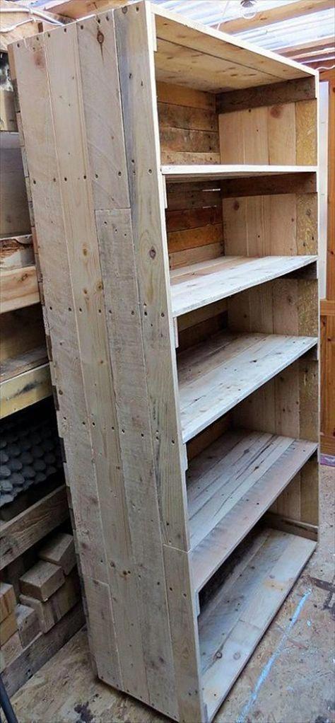 Wooden Pallet Bookcase Designs | 99 Pallets