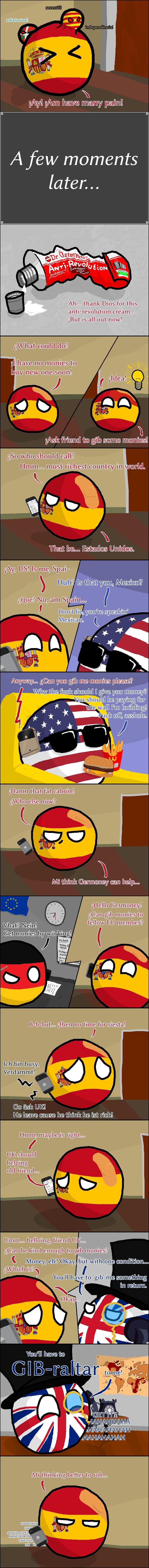 Poor Spain (Spain, USA, Germany, UK)