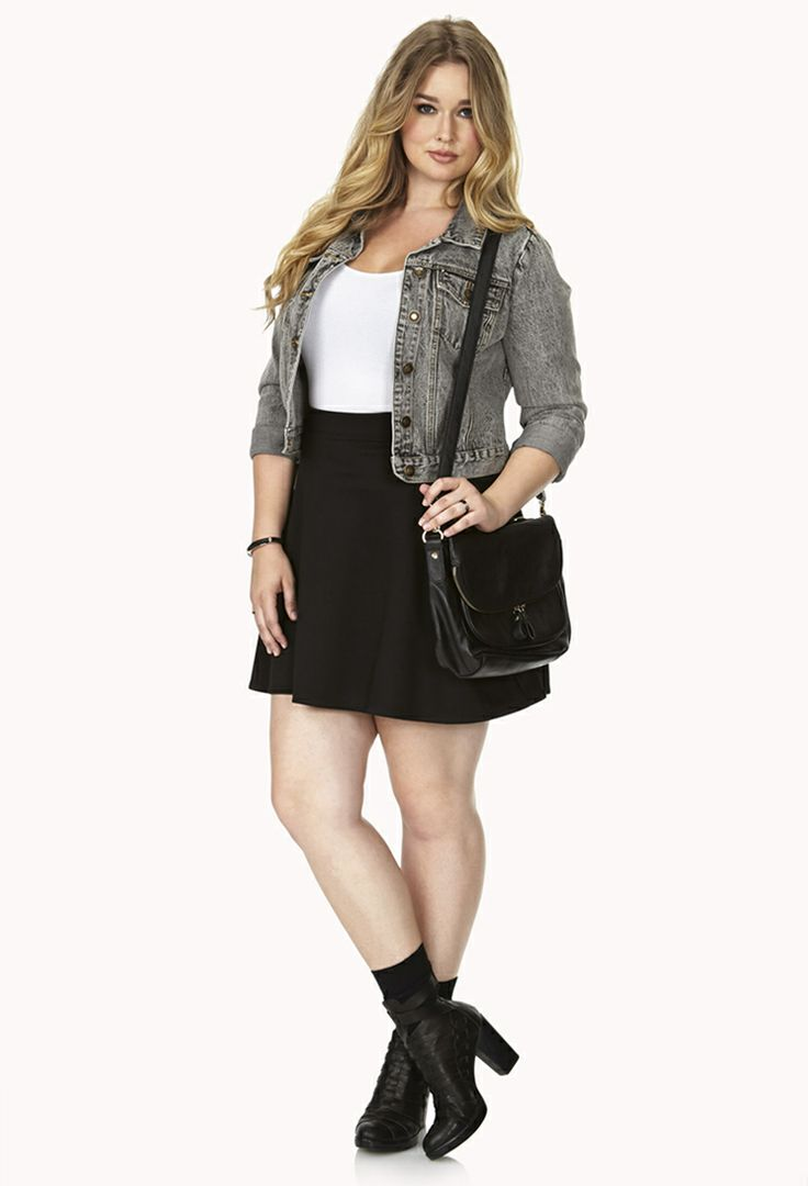 simply stated skater skirt forever21 plus size