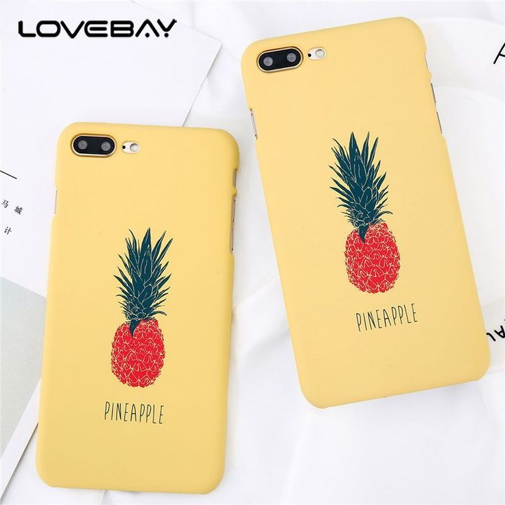 Lovebay Cartoon Pineapple For iPhone 8 7 6s 5 5s SE Phone Case Ultra Thin Hard PC Cute Painted Phone Case For iPhone 6s Cover #Affiliate #iphone5s