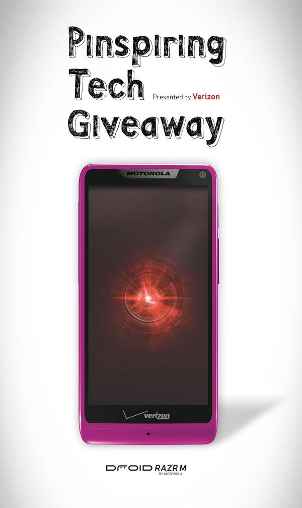 Win #PinspiringTech you'll totally fall in love with this Valentine's Season — a DROID RAZR M by Motorola in everybody's favorite color…PINK!