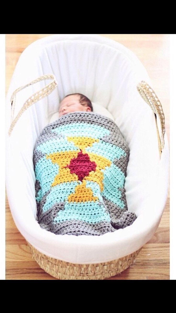 Aztec Tribal Crochet Blanket Throw Baby Home Knit Decor Serape Kilim Pendleton Made in ANY Colors by CrochetSavy on Etsy