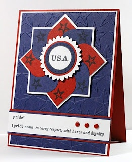 Great USA Card or put the name of the one whose birthday it is, or whatever greeting you would like where the USA is.