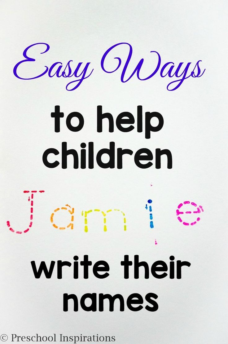 Are you helping a child write his or her name? Here are Easy Ways to help children write their names by Preschool Inspirations.