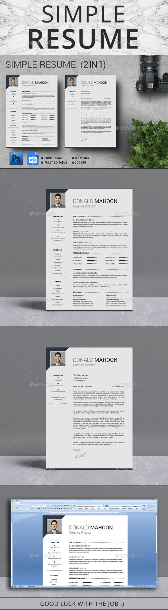Resume by logotex Resume is the super clean, professional and simple resume cv template to help you land that great job. The flexible page designs