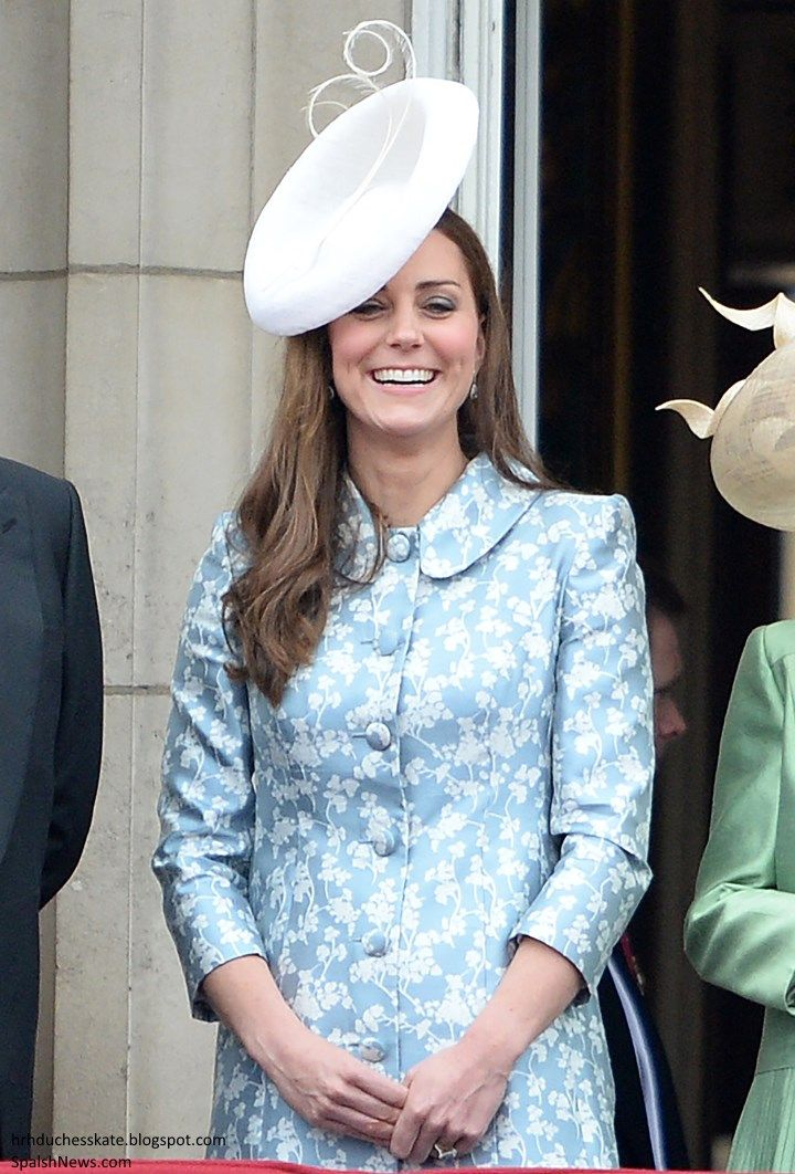 Duchess of Cambridge attended Trooping of the Colour, June 13, 2015. This was Kate's first public appearance since giving birth to the Cambridge's second child, Princess Charlotte, on May 2, 2015.