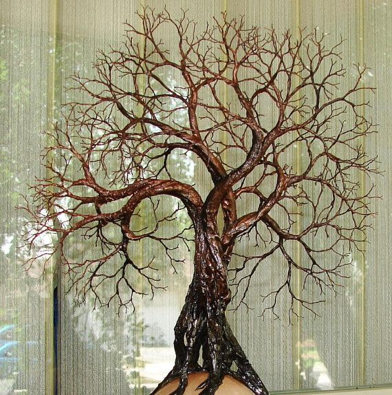 Wire Tree Of Life Ancient Grove Spirits sculpture by CrowsFeathers, $370.00